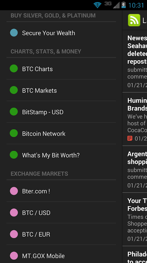Bitcoin Buzz Feeds - screenshot