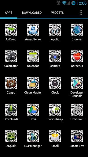Zebra Print Apex Icon Pack