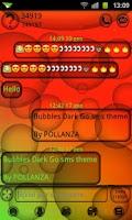 Screenshot of GO SMS Bubbles Dark Theme