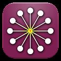 Radiation detector Atom Simple icon