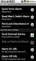 Screenshot of PanicLock