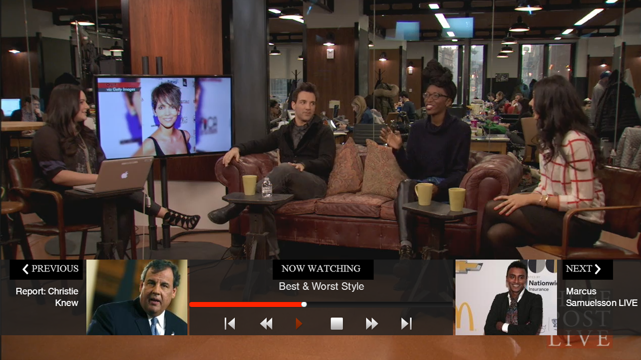 HuffPost Live for Google TV- screenshot