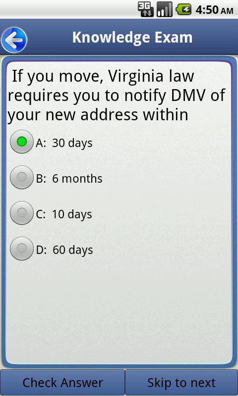 Driving License Manual virginia