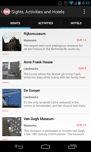 Holidayen Amsterdam Guide