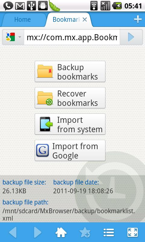 Maxthon Add-on:Bookmark Backup - screenshot