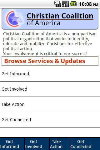 Christian Coalition Mobile- screenshot