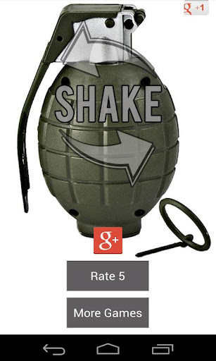 Grenade Sound Weapon Shaker