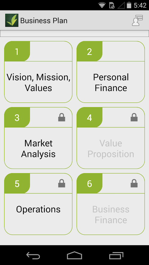 Centro Business Planning Tool- screenshot