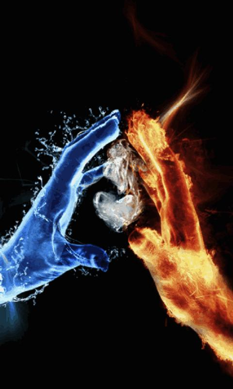 3D Ice Fire Love LiveWallpaper - screenshot