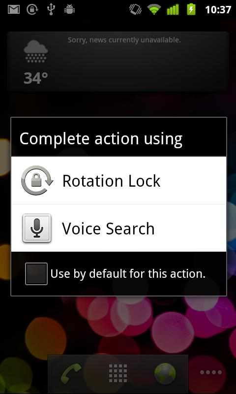 Rotation Lock Open Source - screenshot