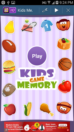 Kids Memory Game Children's