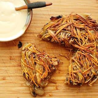 Crispy Potato, Onion, and Mushroom Rösti.