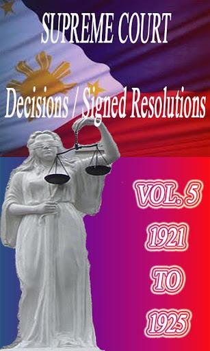 Phil Supreme Court Vol. 5