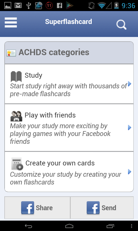ACHDS Flashcards - screenshot