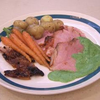 Roast Sugar-baked Ham With Parsley Sauce