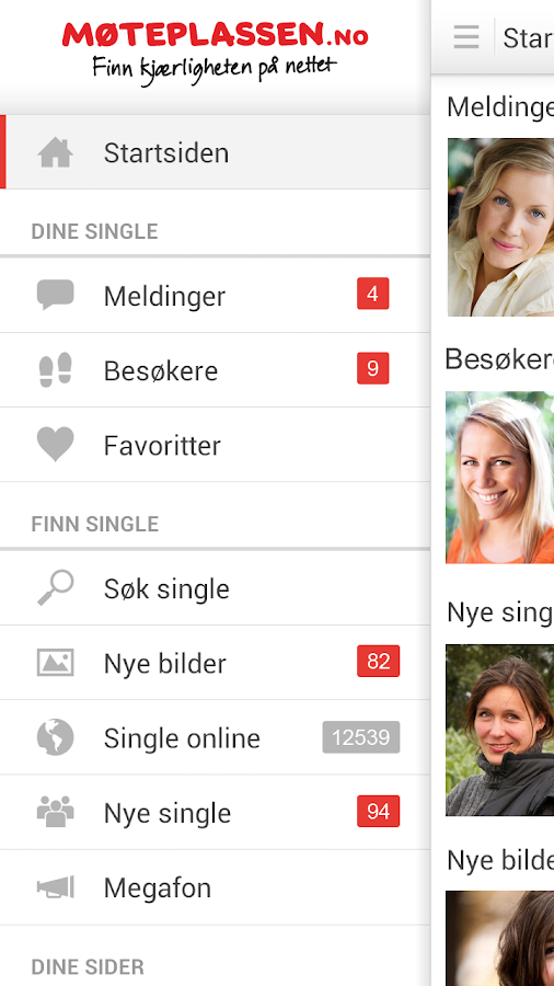 Møteplassen - date single - screenshot