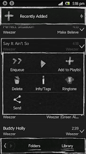 Poweramp Blackboard Skin - screenshot thumbnail