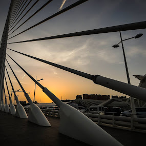 Sunset from the bridgehttps://www.facebook.com/photo.php?fbid=993829570634288&set=gm.735585436491074&type=1&theater by Orkidea W. - Buildings & Architecture Bridges & Suspended Structures (  )