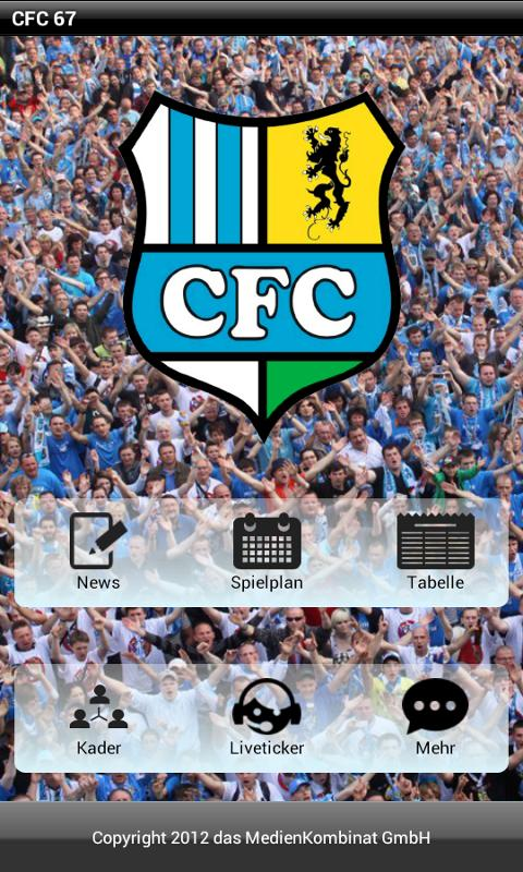 CFC-FanApp - screenshot