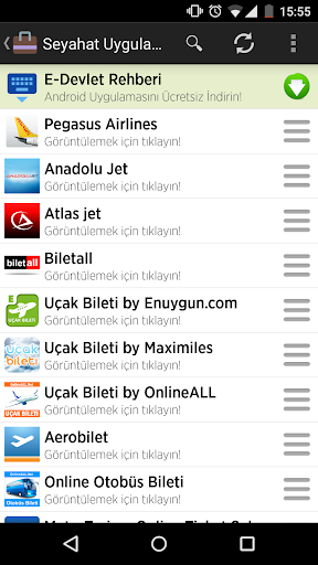 Turkish Travel Applications