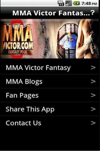 MMA Victor Fantasy MMA- screenshot