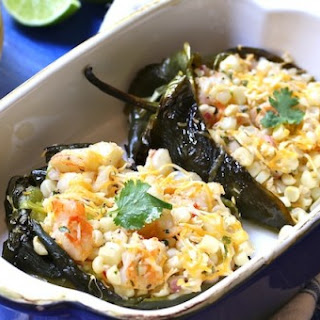 Poblano Peppers Stuffed with Warm Corn Salad