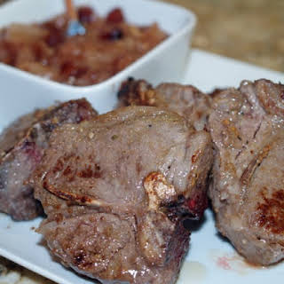 Cumin Lamb Chops With Pear Chutney.