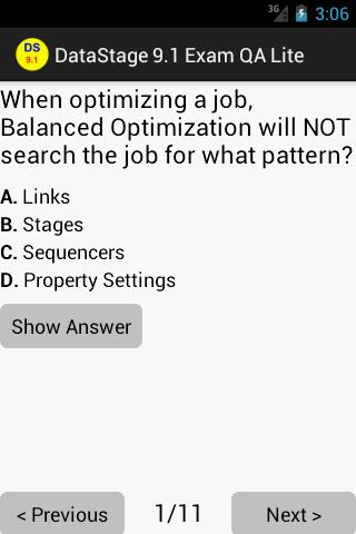 DataStage 9.1 Exam QA Lite