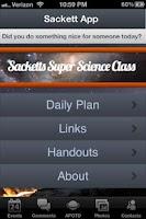 Screenshot of SackettApp