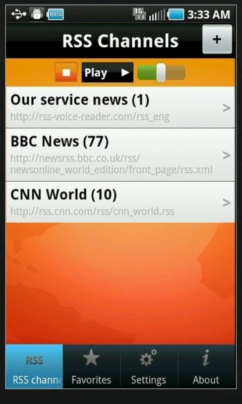 RSS Voice Reader - screenshot
