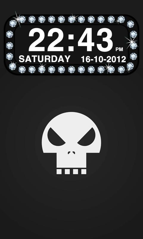 Diamond Clock Widget- screenshot