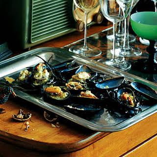 Mussels with Tarragon Celery Vinaigrette.