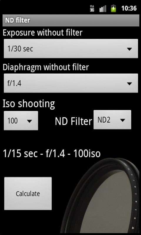 ND filter- screenshot