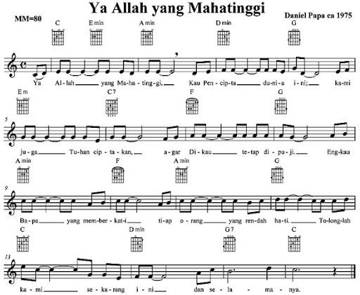 Contoh Lagu Anak Anak Bertangga Nada Mayor Adalah