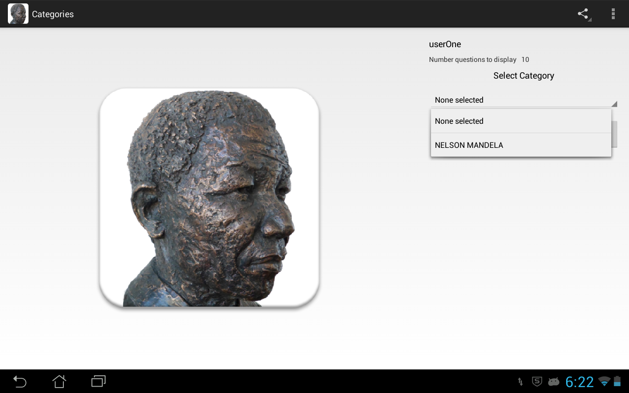 Nelson Mandela Quiz - screenshot