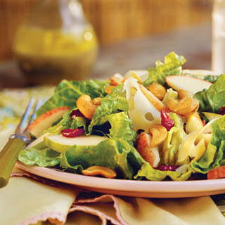 Apple-Pear Salad With Lemon-Poppy Seed Dressing.