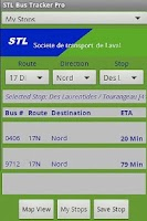 Screenshot of Laval STL Bus Tracker Pro
