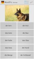 Screenshot of Learn German with WordPic