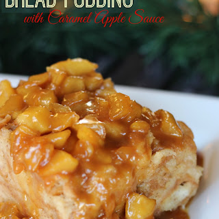 Bread Pudding with Caramel Apple Sauce