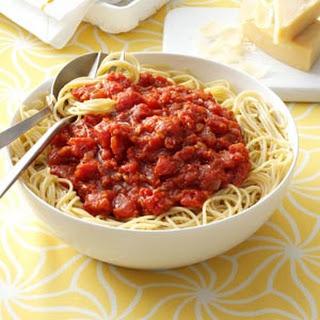 Homemade Meatless Spaghetti Sauce.