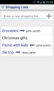 Shared Shopping List screenshot 0