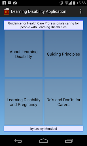 Learning Disability App
