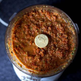 Linguine With Tomato-almond Pesto.