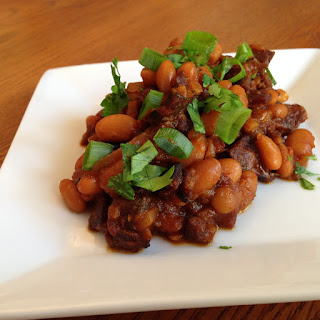 Smoky Sweet Chorizo Baked Beans with Duke's Jerky