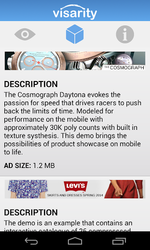 3D Mobile Ad Gallery