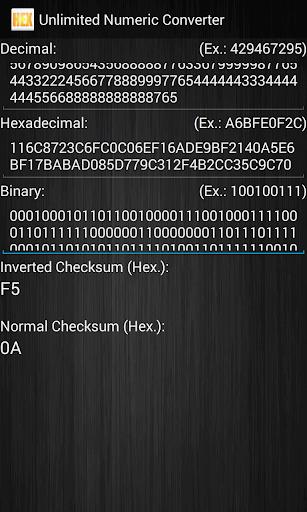 Unlimited Numeric Converter