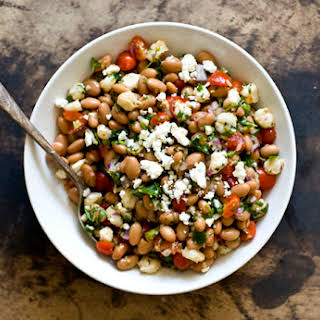 Pinto Bean And Hominy Salad.