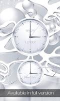 Screenshot of White clock live wallpaper HD
