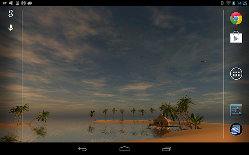 Maldives 3D LWP, True Weather- screenshot thumbnail