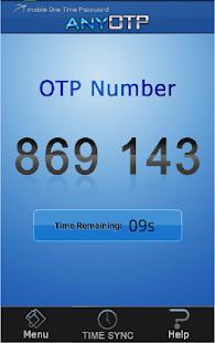 Any OTP - náhled